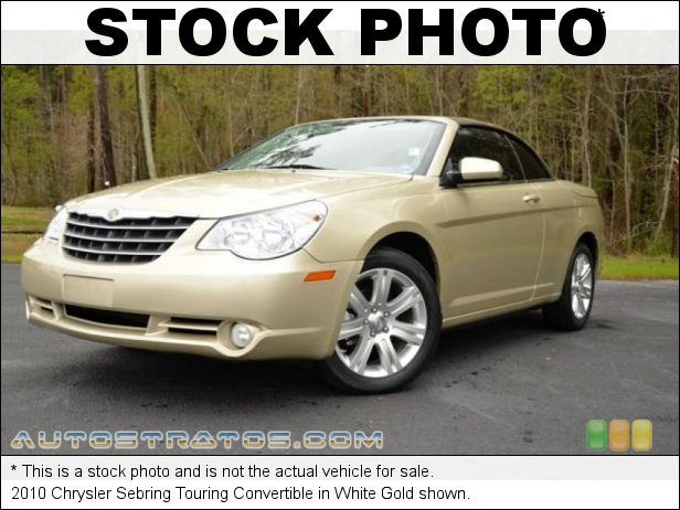 Stock photo for this 2010 Chrysler Sebring Touring Convertible 2.7 Liter Flex-Fuel DOHC 24-Valve V6 4 Speed Automatic