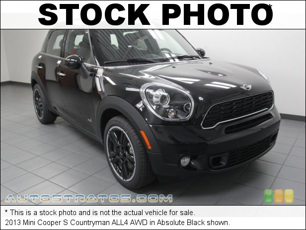 Stock photo for this 2013 Mini Cooper S Countryman ALL4 AWD 1.6 Liter DI Twin-Scroll Turbocharged DOHC 16-Valve VVT 4 Cylind 6 Speed Steptronic Automatic