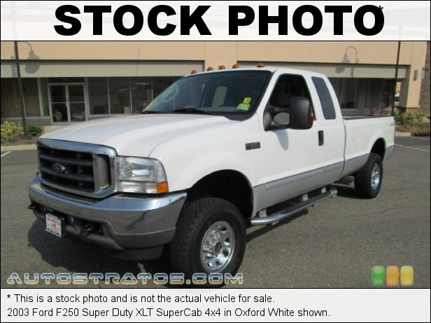 Stock photo for this 2003 Ford F250 Super Duty SuperCab 4x4 5.4 Liter SOHC 16V Triton V8 4 Speed Automatic