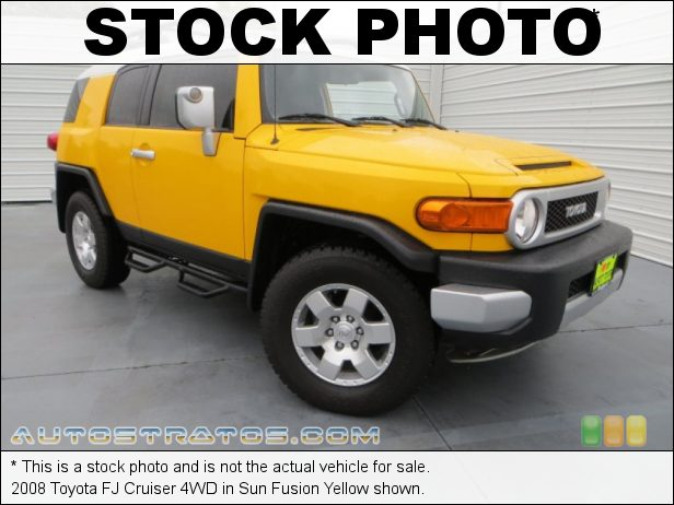 Stock photo for this 2008 Toyota FJ Cruiser 4WD 4.0 Liter DOHC 24-Valve VVT V6 5 Speed Automatic
