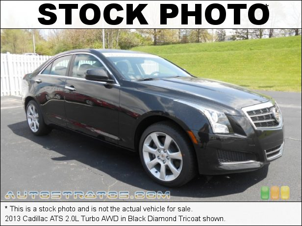 Stock photo for this 2013 Cadillac ATS 2.0L Turbo AWD 2.0 Liter DI Turbocharged DOHC 16-Valve VVT 4 Cylinder 6 Speed Hydra-Matic Automatic
