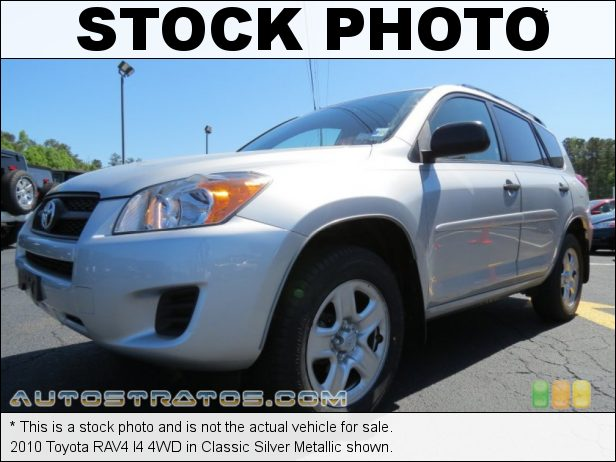 Stock photo for this 2010 Toyota RAV4 I4 4WD 2.5 Liter DOHC 16-Valve Dual VVT-i 4 Cylinder 4 Speed ECT Automatic