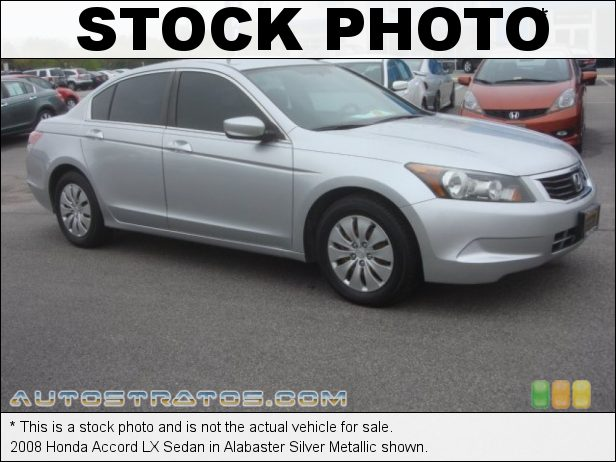 Stock photo for this 2008 Honda Accord LX Sedan 2.4 Liter DOHC 16-Valve i-VTEC 4 Cylinder 5 Speed Automatic