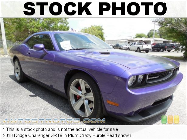 Stock photo for this 2010 Dodge Challenger SRT8 426 ci (7.0 Liter) SpeedFactory Supercharged SRT HEMI OHV 16-Val 5 Speed AutoStick Automatic