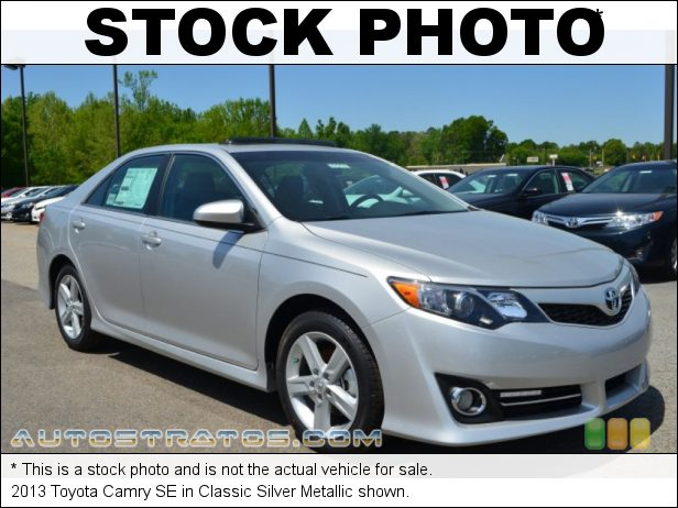 Stock photo for this 2013 Toyota Camry SE 2.5 Liter DOHC 16-Valve Dual VVT-i 4 Cylinder 6 Speed ECT-i Automatic