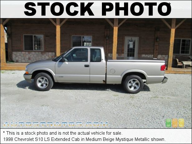 Stock photo for this 1998 Chevrolet S10 LS Extended Cab 2.2 Liter OHV 8-Valve 4 Cylinder 4 Speed Automatic