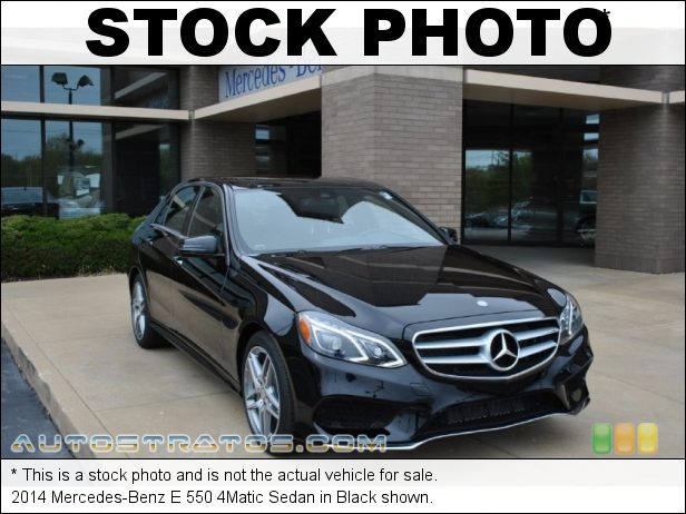 Stock photo for this 2014 Mercedes-Benz E 550 4Matic Sedan 4.6 Liter Twin-Turbocharged DOHC 32-Valve VVT V8 7 Speed Automatic