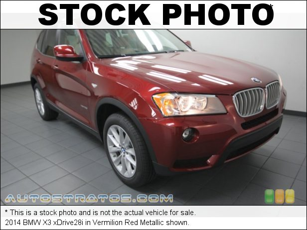 Stock photo for this 2014 BMW X3 xDrive28i 2.0 Liter DI TwinPower Turbocharged DOHC 16-Valve VVT 4 Cylinder 8 Speed Steptronic Automatic