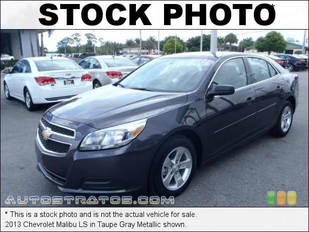 Stock photo for this 2013 Chevrolet Malibu LS 2.5 Liter Ecotec DI DOHC 16-Valve VVT 4 Cylinder 6 Speed Automatic