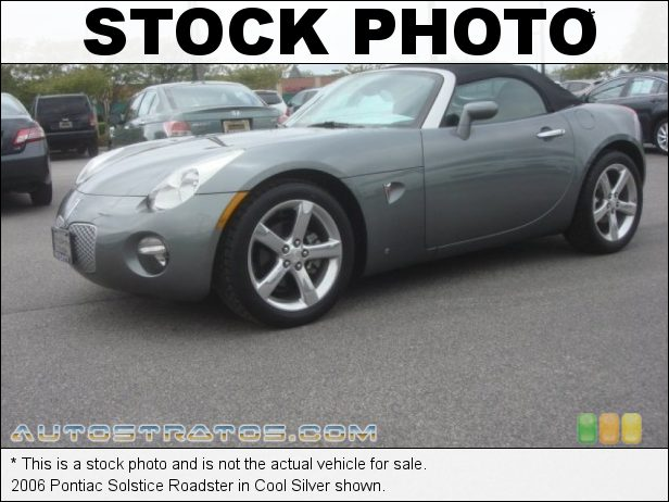 Stock photo for this 2006 Pontiac Solstice Roadster 2.4 Liter DOHC 16-Valve VVT Ecotec 4 Cylinder 5 Speed Automatic
