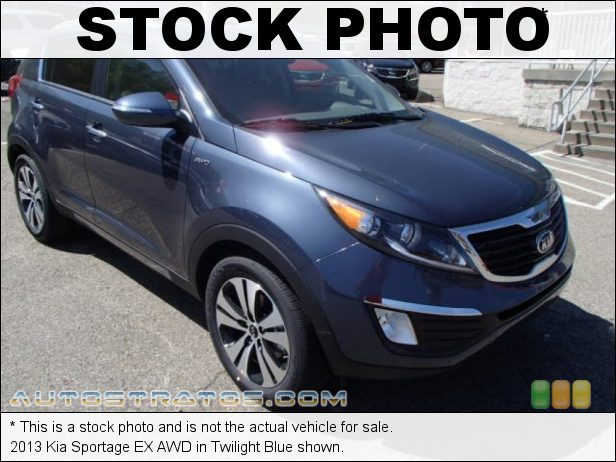 Stock photo for this 2013 Kia Sportage EX AWD 2.4 Liter DOHC 16-Valve CVVT 4 Cylinder 6 Speed Automatic