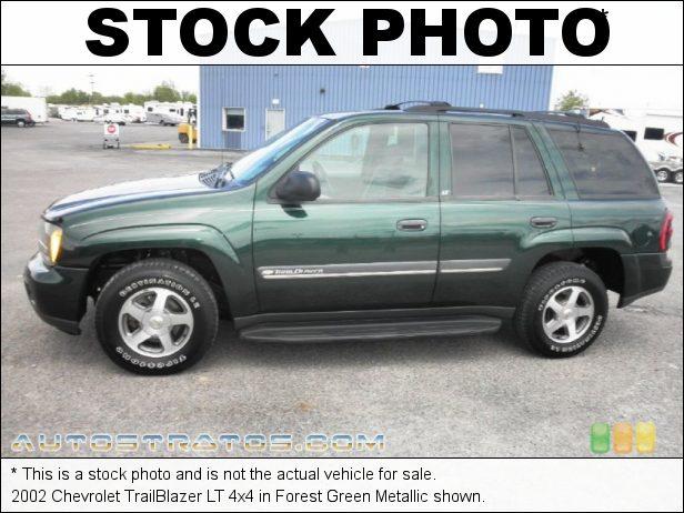 Stock photo for this 2002 Chevrolet TrailBlazer LT 4x4 4.2 Liter DOHC 24-Valve Vortec Inline 6 Cylinder 4 Speed Automatic