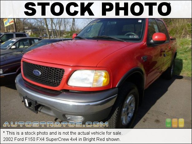Stock photo for this 2002 Ford F150 SuperCrew 4x4 5.4 Liter SOHC 16V Triton V8 4 Speed Automatic
