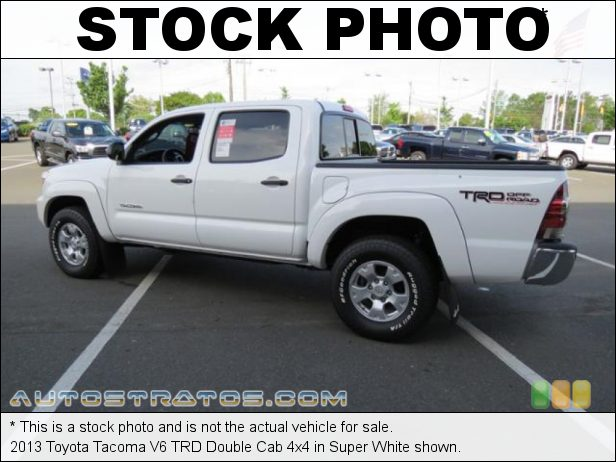 Stock photo for this 2013 Toyota Tacoma V6 Double Cab 4x4 4.0 Liter DOHC 24-Valve VVT-i V6 5 Speed ECT-i Automatic