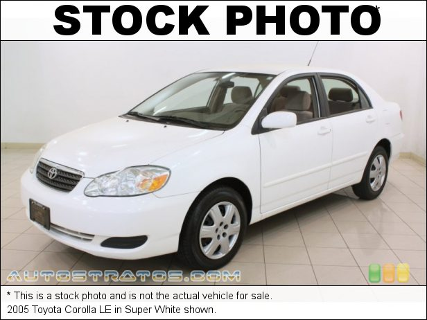 Stock photo for this 2005 Toyota Corolla LE 1.8L DOHC 16V VVT-i 4 Cylinder 4 Speed Automatic