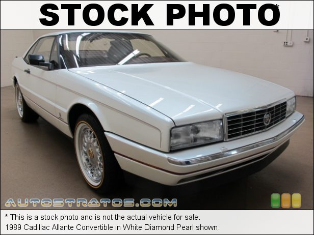 Stock photo for this 1989 Cadillac Allante Convertible 4.5 Liter OHV 16-Valve V8 4 Speed Automatic