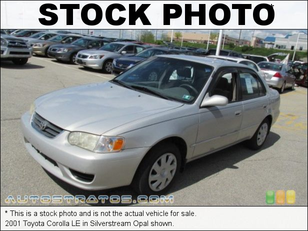 Stock photo for this 2001 Toyota Corolla CE 1.8 Liter DOHC 16-Valve VVT-i 4 Cylinder 3 Speed Automatic