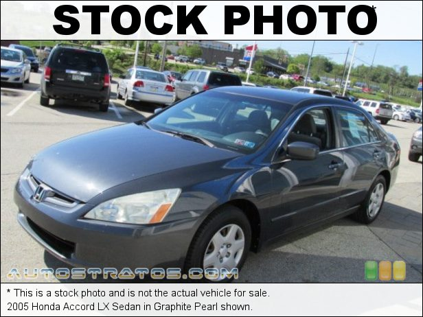 Stock photo for this 2005 Honda Accord LX Sedan 2.4L DOHC 16V i-VTEC 4 Cylinder 5 Speed Automatic