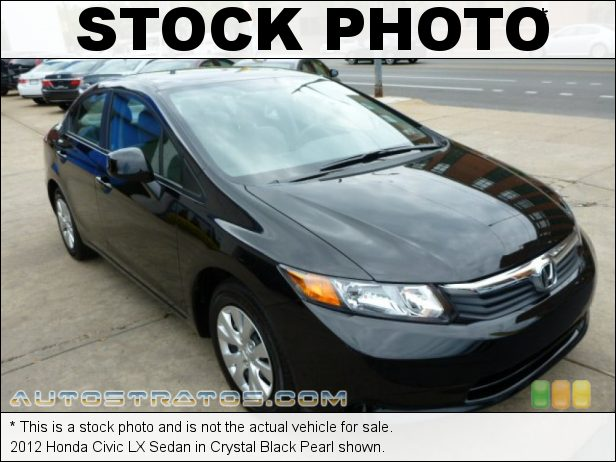 Stock photo for this 2012 Honda Civic LX Sedan 1.8 Liter SOHC 16-Valve i-VTEC 4 Cylinder 5 Speed Automatic