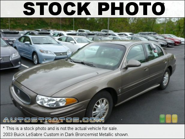 Stock photo for this 2003 Buick LeSabre Custom 3.8 Liter OHV 12-Valve 3800 Series II V6 4 Speed Automatic