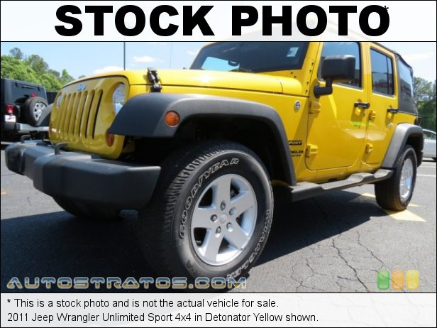 Stock photo for this 2011 Jeep Wrangler Unlimited Sport 4x4 3.8 Liter OHV 12-Valve V6 6 Speed Manual