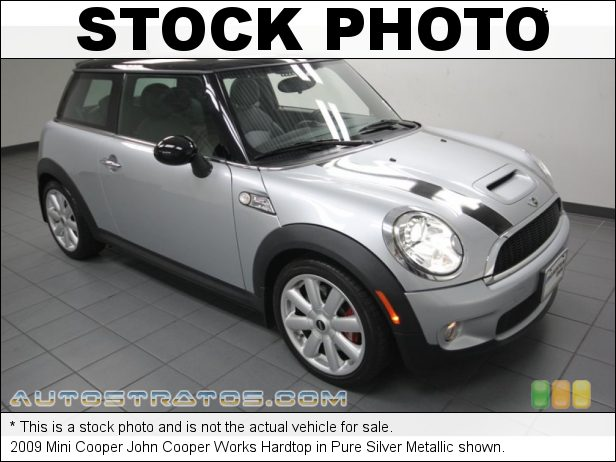 Stock photo for this 2009 Mini Cooper John Cooper Works Hardtop 1.6 Liter High-Output Turbocharged DOHC 16-Valve 4 Cylinder 6 Speed Manual