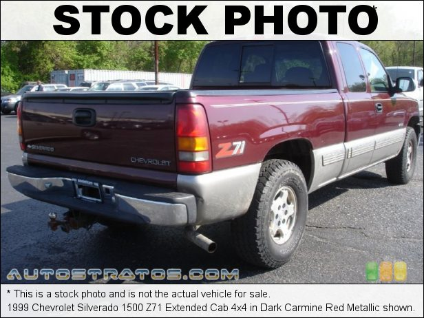 Stock photo for this 1999 Chevrolet Silverado 1500 Extended Cab 4x4 5.3 Liter OHV 16-Valve V8 4 Speed Automatic