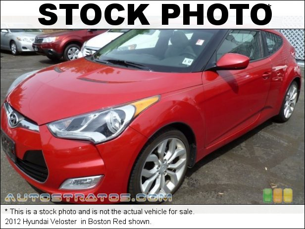 Stock photo for this 2012 Hyundai Veloster  1.6 Liter GDI DOHC 16-Valve Dual-CVVT 4 Cylinder 6 Speed Manual