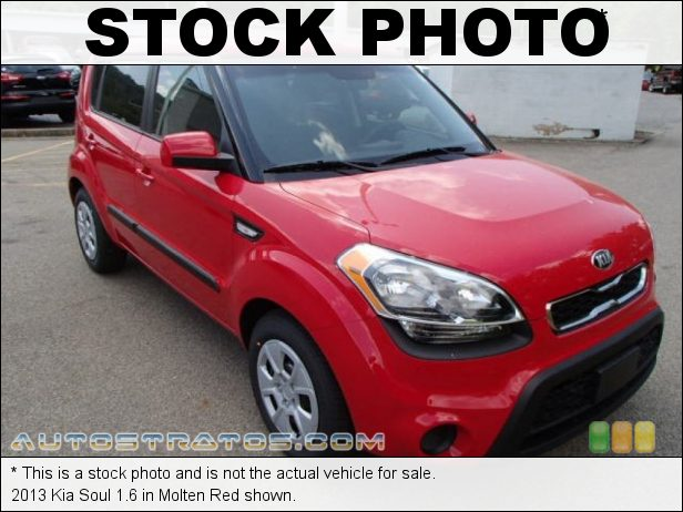 Stock photo for this 2013 Kia Soul 1.6 1.6 Liter DOHC 16-Valve CVVT 4 Cylinder 6 Speed Automatic