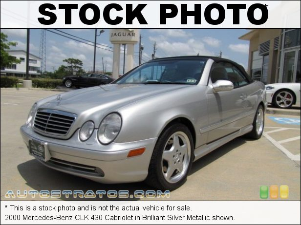 Stock photo for this 2000 Mercedes-Benz CLK 430 Cabriolet 4.3 Liter SOHC 24-Valve V8 5 Speed Automatic