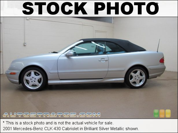 Stock photo for this 2001 Mercedes-Benz CLK 430 Cabriolet 4.3 Liter SOHC 24-Valve V8 5 Speed Automatic