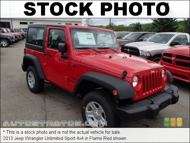 Stock photo for this 2013 Jeep Wrangler Unlimited Sport 4x4 3.6 Liter DOHC 24-Valve VVT Pentastar V6 5 Speed Automatic