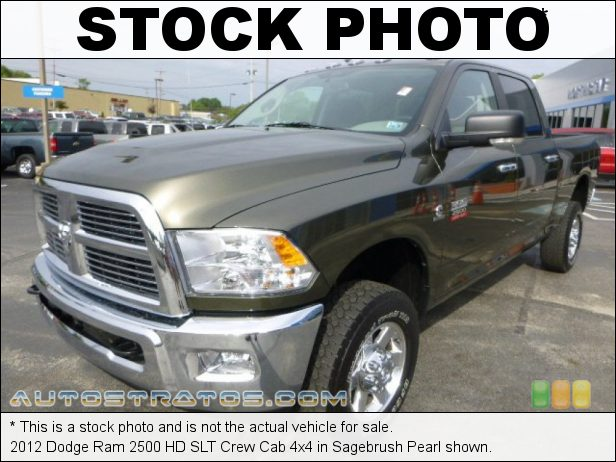 Stock photo for this 2012 Dodge Ram 2500 HD SLT Crew Cab 4x4 6.7 Liter OHV 24-Valve Cummins VGT Turbo-Diesel Inline 6 Cylinde 6 Speed Automatic