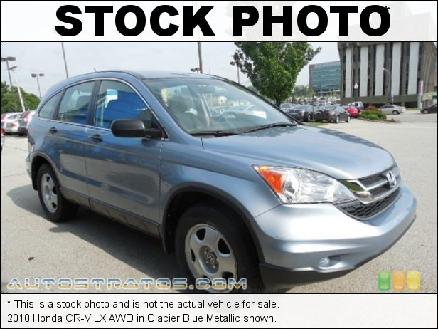Stock photo for this 2010 Honda CR-V LX AWD 2.4 Liter DOHC 16-Valve i-VTEC 4 Cylinder 5 Speed Automatic