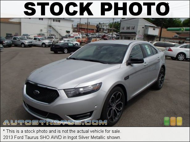 Stock photo for this 2013 Ford Taurus SHO AWD 3.5 Liter EcoBoost DI Turbocharged DOHC 24-Valve Ti-VCT V6 6 Speed SelectShift Automatic
