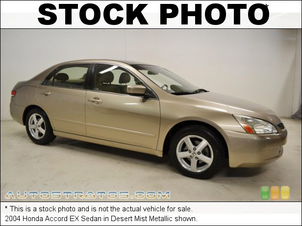 Stock photo for this 2004 Honda Accord EX Sedan 2.4 Liter DOHC 16-Valve i-VTEC 4 Cylinder 5 Speed Automatic