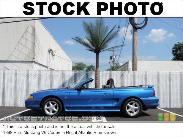 Stock photo for this 1998 Ford Mustang V6 3.8 Liter OHV 12-Valve V6 4 Speed Automatic