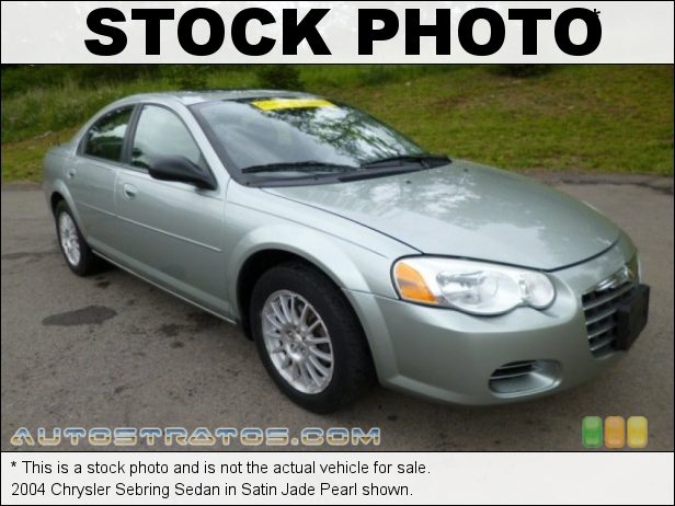 Stock photo for this 2004 Chrysler Sebring Sedan 2.4 Liter DOHC 16-Valve 4 Cylinder 4 Speed Automatic
