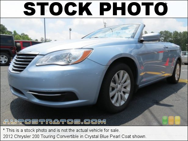 Stock photo for this 2012 Chrysler 200 Touring Convertible 2.4 Liter DOHC 16-Valve Dual VVT 4 Cylinder 4 Speed Automatic