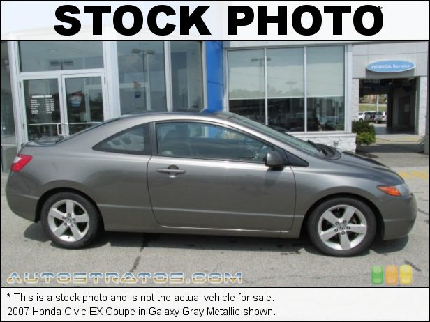 Stock photo for this 2007 Honda Civic EX Coupe 1.8L SOHC 16V 4 Cylinder 5 Speed Automatic