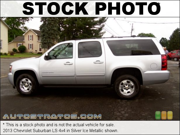Stock photo for this 2013 Chevrolet Suburban LS 4x4 5.3 Liter OHV 16-Valve Flex-Fuel V8 6 Speed Automatic