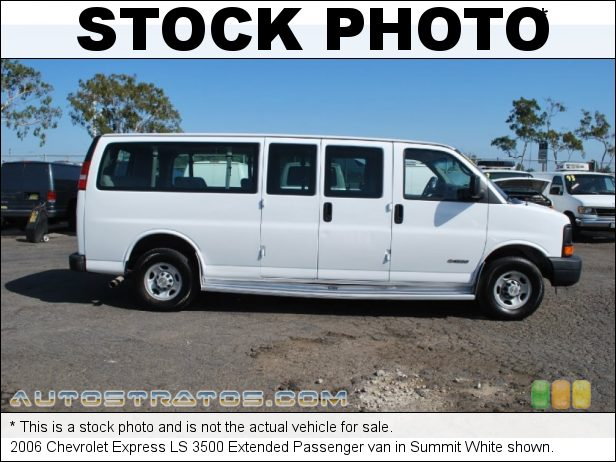 Stock photo for this 2003 Chevrolet Express 3500 Extended Van 6.0 Liter OHV 16-Valve V8 4 Speed Automatic