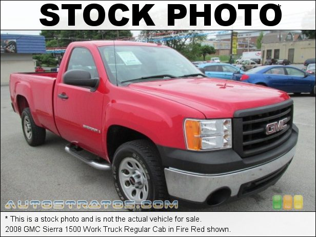 Stock photo for this 2008 GMC Sierra 1500 Regular Cab 4.3 Liter OHV 12V Vortec V6 4 Speed Automatic