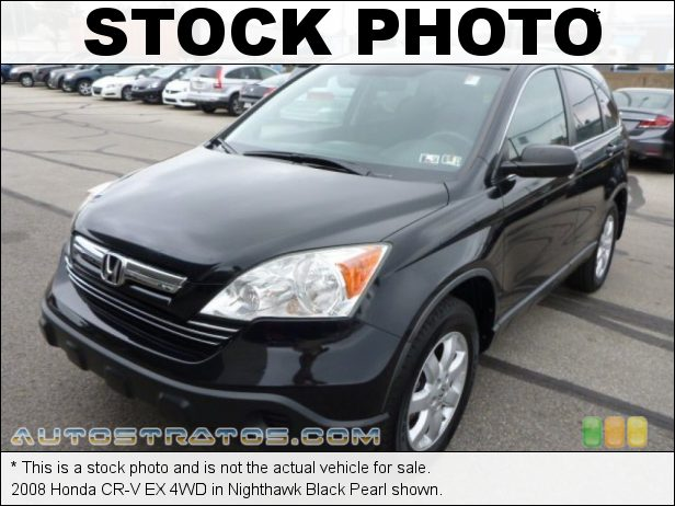 Stock photo for this 2008 Honda CR-V EX 4WD 2.4 Liter DOHC 16-Valve i-VTEC 4 Cylinder 5 Speed Automatic