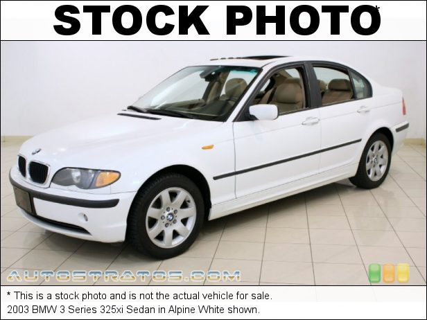 Stock photo for this 2003 BMW 3 Series 325xi Sedan 2.5L DOHC 24V Inline 6 Cylinder 5 Speed Manual