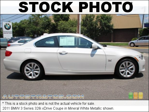 Stock photo for this 2011 BMW 3 Series 328i xDrive Coupe 3.0 Liter DOHC 24-Valve VVT Inline 6 Cylinder 6 Speed Steptronic Automatic