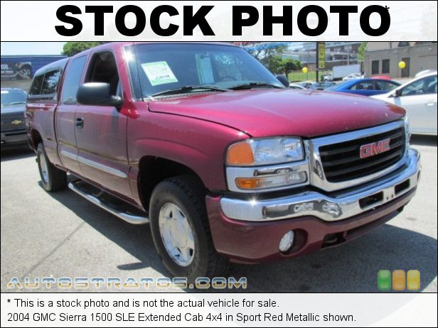 Stock photo for this 2004 GMC Sierra 1500 Extended Cab 4x4 5.3 Liter OHV 16-Valve Vortec V8 4 Speed Automatic