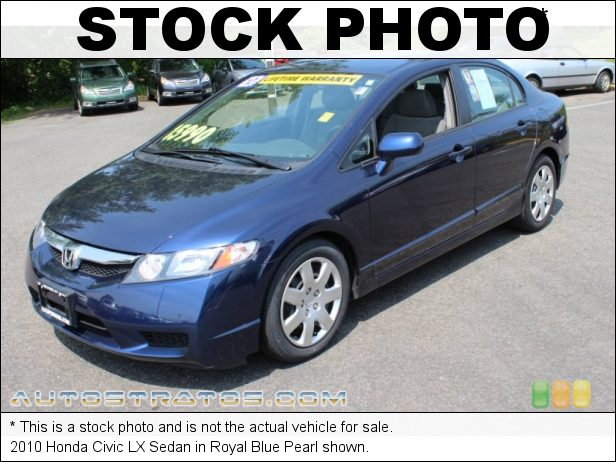 Stock photo for this 2010 Honda Civic LX Sedan 1.8 Liter SOHC 16-Valve i-VTEC 4 Cylinder 5 Speed Automatic