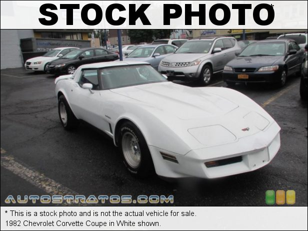 Stock photo for this 1982 Chevrolet Corvette Coupe 350 cid OHV 16-Valve V8 4 Speed Automatic
