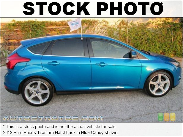 Stock photo for this 2013 Ford Focus Titanium Hatchback 2.0 Liter GDI DOHC 16-Valve Ti-VCT Flex-Fuel 4 Cylinder 6 Speed Automatic